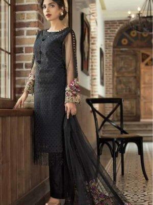 ~Sold out~ Arisha Chaudhary Embroidered Lawn Chiffon Dupatta Salwar Suit