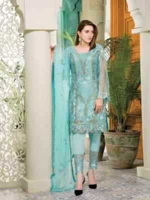 ~Sold out~ Ramsha Embroidered Pakistani Chiffon Salwar Kameez – Volume 12 Chiffon Dupatta Salwar Suit