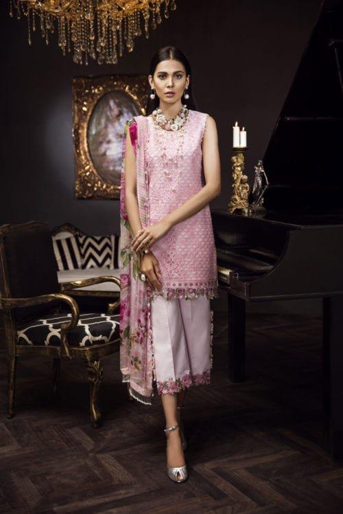 Pakistani Suits & Dresses - Unstitched Dress Material Noor Formals by Saadia Asad Chiffon Dupatta Salwar Suit