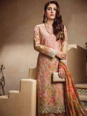 ~Sold out~ Al Karam Festive Pakistani Suit FC-06-18-2 ORANGE Alkaram Pakistani Suits