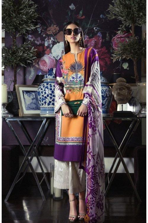 Sana Safinaz Muzlin Volume 3 M04B-18V2 Sana Safinaz Chiffon Dupatta Salwar Suit