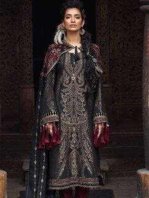 ~Sold out~ Al Karam MAK-W-B1-18-Red with Stole Alkaram Pakistani Suits