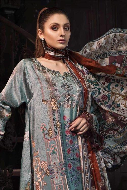MARIAB MARIA.B. Silk 2019 – Unstitched Pakistani Suit Design #6 RESTOCKED eid shopping