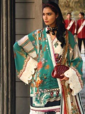 Zaha's Wonderland Summer Lawn Collection 2019 - Original Zaha's Wonderland Summer Lawn Collection 2019 15A Chiffon Dupatta Salwar Suit