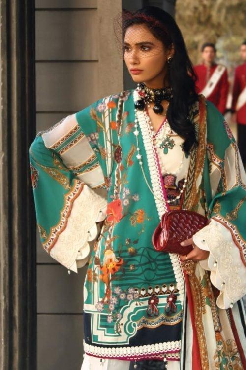 Zaha's Wonderland Summer Lawn Collection 2019 - Original Zaha's Wonderland Summer Lawn Collection 2019 15B best pakistani suits collection
