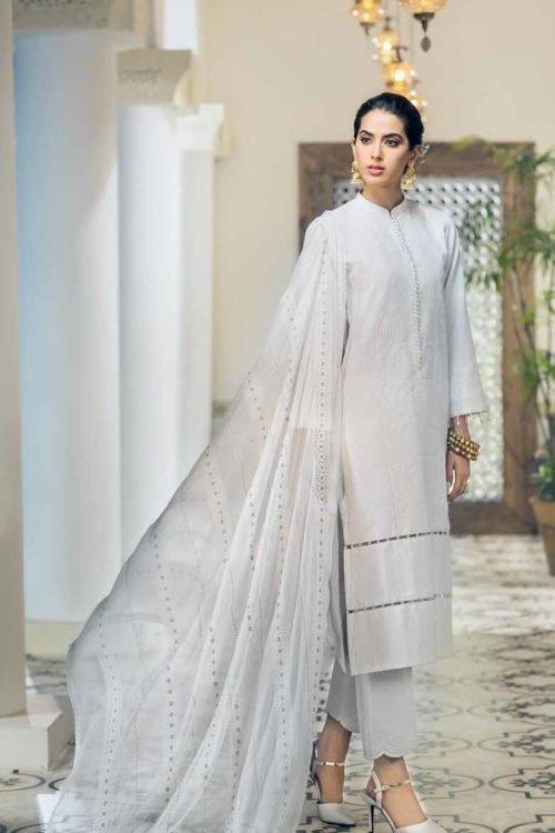 Gul Ahmed Gul Ahmed Premium Luxury Collection LSV14 Chiffon Dupatta Salwar Suit