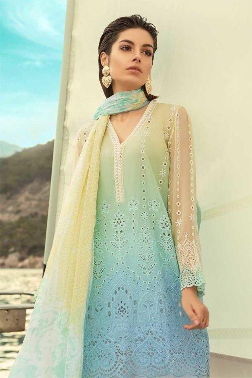 *On Sale* MARIA.B. Lawn 2019 4-A HOT Chiffon Dupatta Salwar Suit