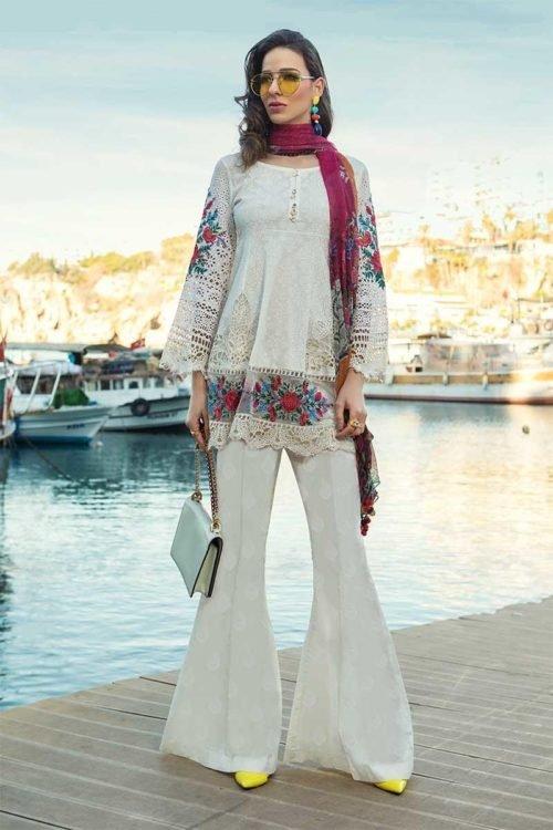 *On Sale* MARIA.B. Lawn 2019 10-A Chiffon Dupatta Salwar Suit