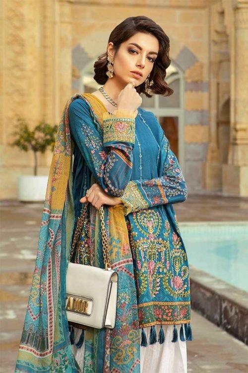 *On Sale* MARIA.B. Lawn 2019 12-B HOT Chiffon Dupatta Salwar Suit