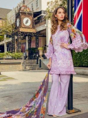 Maryum & Maria Premium Lawn - Original Maryum & Maria Premium Lawn Chiffon Dupatta Salwar Suit