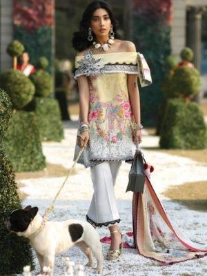 Zaha's Wonderland Summer Lawn Collection 2019 - Original Zaha's Wonderland Summer Lawn Collection 2019 01A – Acacia Lawn Dupatta Salwar Suits