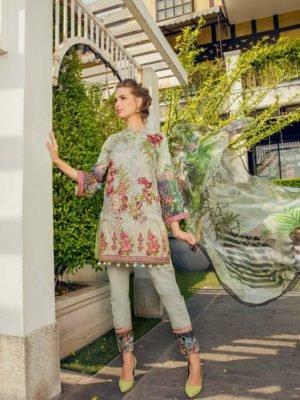 ~Sold out~ Maryum & Maria Premium Lawn Chiffon Dupatta Salwar Suit