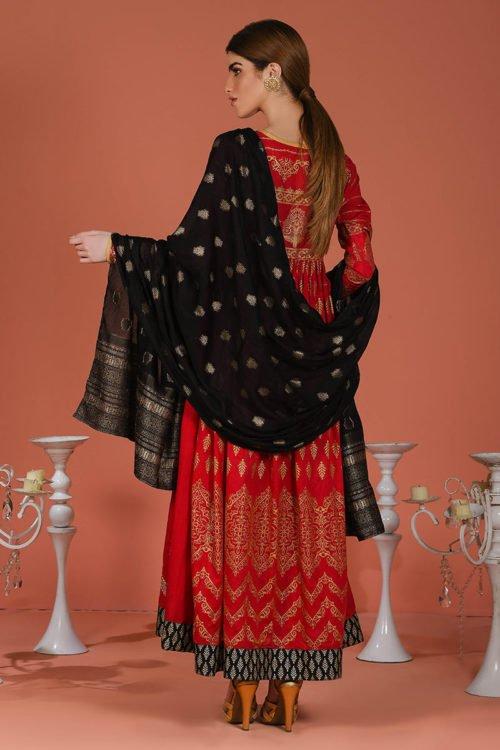 ~Best Sellers~ LSM Premium Jacquard ZEBAISH Lawn Dupatta Salwar Suits
