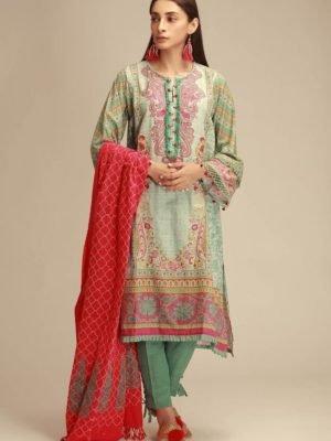 ~Sold out~ Salitex Jacquard 2019 – Z'ure Chiffon Dupatta Salwar Suit