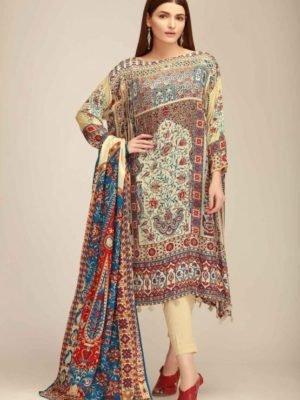 ~Sold out~ Sapphire Lawn Vol 1 ORANGE BLOOM A – Pakistani Suits on Sale best pakistani suits collection