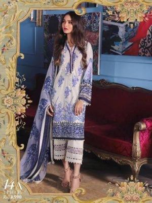 Sana Safinaz Sana Safinaz Muzlin Vol 2 – 2019- 11B Chiffon Dupatta Salwar Suit