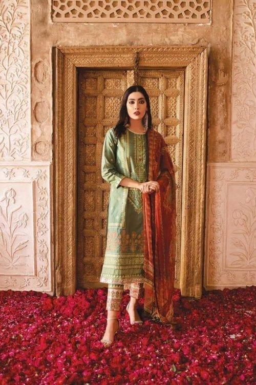 Khaadi Khaadi Festive Eid 2019 GR19303B Chiffon Dupatta Salwar Suit