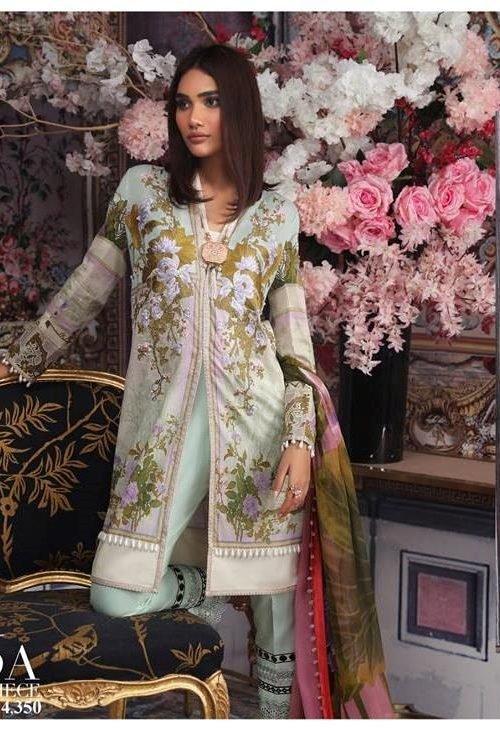 Sana Safinaz Muzlin Vol 2 – 2019- 6A Lawn - Reloaded Chiffon Dupatta Salwar Suit
