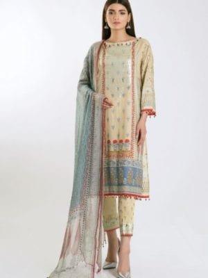Khaadi Khaadi Festive Eid 2019 GR19306-Grey-3Pc Chiffon Dupatta Salwar Suit