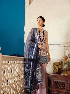 Cross Stitch Rani Bagh - Luxury Lawn '19 - Original Cross Stitch Pakistani Suits Rani Bagh – Luxury Lawn '19 Chiffon Dupatta Salwar Suit