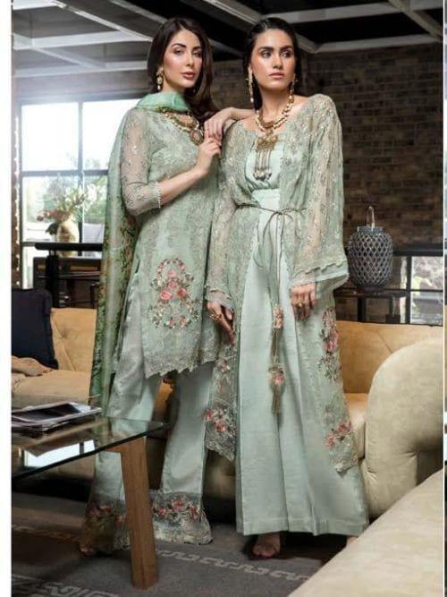 ~Sold out~ Manara Incredible Eid 2019 Chiffon Dupatta Salwar Suit