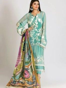 Khaadi Khaadi Festive Eid 2019 LCP19204-Blue-3Pc RESTOCKED UZ best pakistani suits collection