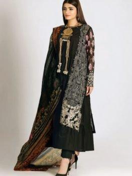 Khaadi Khaadi Festive Eid 2019 LCP19208-Black-3Pc RESTOCKED UZ best pakistani suits collection