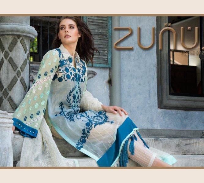 Ready to Ship Zunuj Festive by Zunn Chiffon Dupatta Salwar Suit
