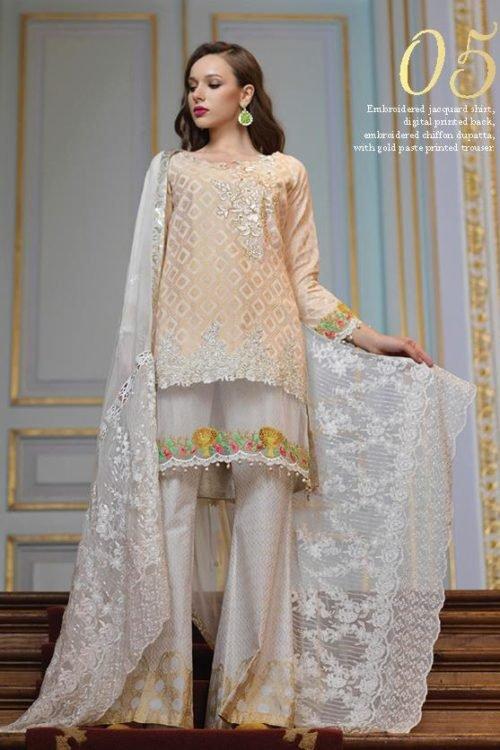 *Hot on Sale* Mahiymaan Eid Luxury 2019 Design 05 HOT Chiffon Dupatta Salwar Suit