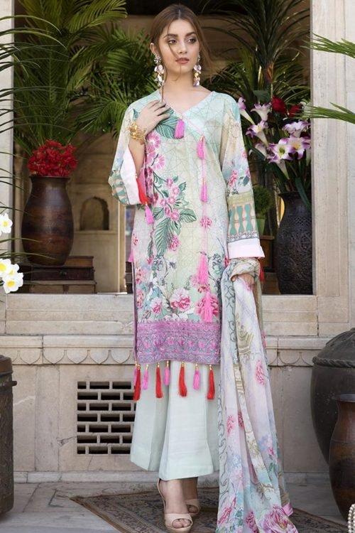 *On Sale* SatinStitch Lawn – Exclusive RESTOCKED Chiffon Dupatta Salwar Suit