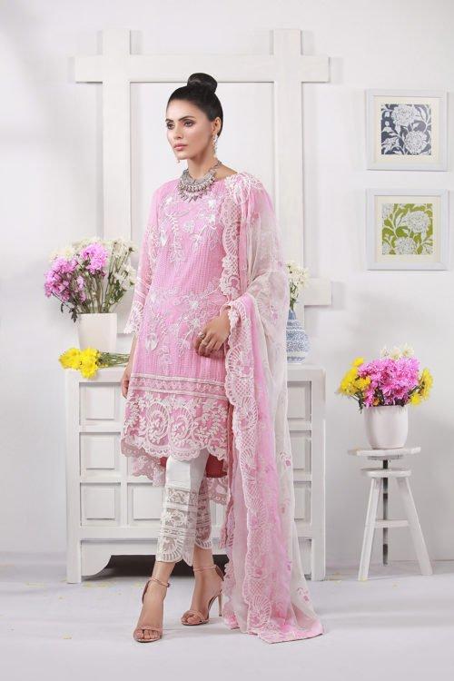 ~Sold out~ Azure Eid Luxury 2019 Chiffon Dupatta Salwar Suit