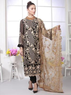 Azure Eid Luxury 2019 - Original Azure Eid Luxury 2019 Chiffon Dupatta Salwar Suit