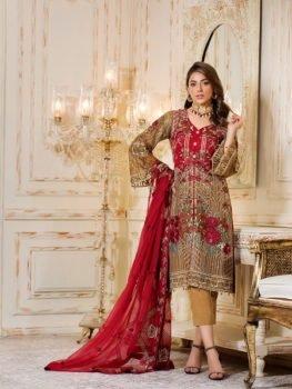 ~Sold out~ Ramsha Rangoon Chiffon Dupatta Salwar Suit