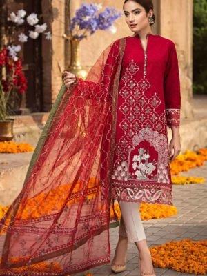 Cross Stitch Rani Bagh - Luxury Lawn '19 - Original Cross Stitch Pakistani Suits Rani Bagh – Luxury Lawn '19 – Mughal Dream best pakistani suits collection