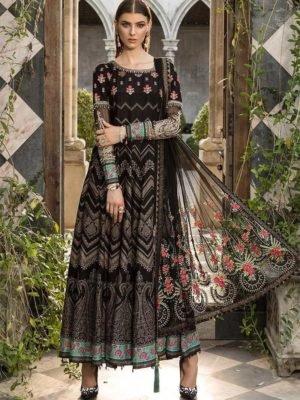 *On Sale* MARIAB EID LAWN 2019 D1 RESTOCKED Chiffon Dupatta Salwar Suit