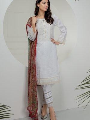 *On Sale* Chikankari Essential Collection by LSM CK-7007 RESTOCKED Chiffon Dupatta Salwar Suit