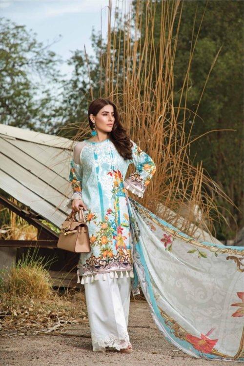 Firdous Ombre by Firdous Embroidered Lawn Chiffon Dupatta Salwar Suit