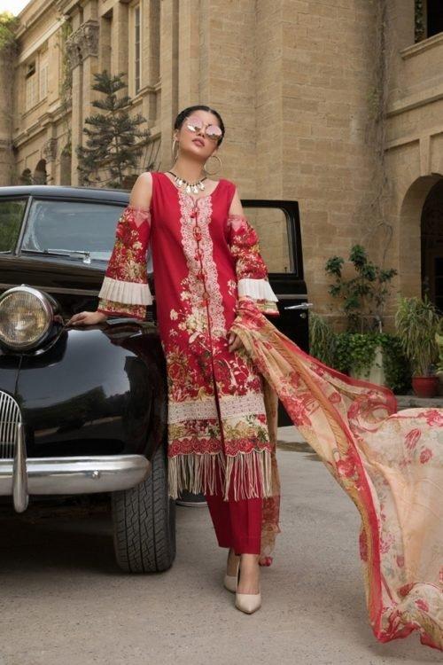 Salwar Kameez & Salwar Suits - Made in India Gulmohar Lawn Salwar Suit Chiffon Dupatta Salwar Suit
