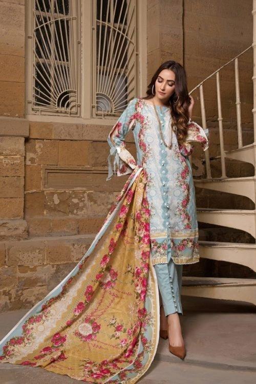 ~Sold out~ Gulmohar Lawn Salwar Suit Chiffon Dupatta Salwar Suit