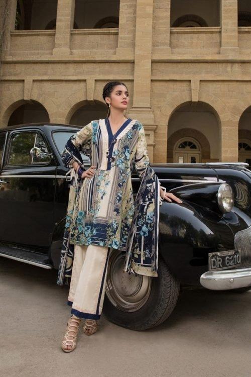 *On Sale* Gulmohar Lawn Salwar Suit Chiffon Dupatta Salwar Suit