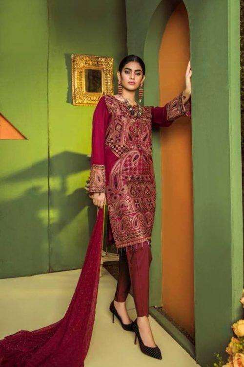 *Hot on Sale* Aurelia by Adan Libas MONARCH – EMBROIDERED LAWN UNSTITCHED HOT Adan Libas Pakistani Suits