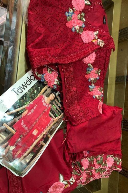 *On Sale* Tawakkal Summer Fantasy Lawn Chiffon Dupatta Salwar Suit