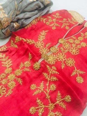 Upara Silk Embroidered Salwar Kameez *Best Sellers Restocked* [tag]