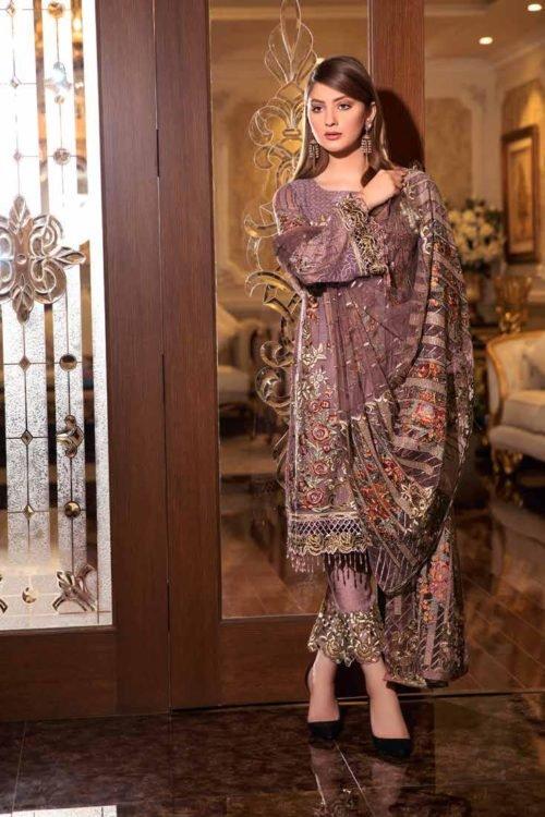 Ramsha Volume 16- Luxury Vibes - Original Ramsha Volume 16- Luxury Vibes Chiffon Dupatta Salwar Suit