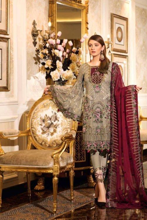 *On Sale* Ramsha Volume 16- Luxury Vibes RESTOCKED Chiffon Dupatta Salwar Suit