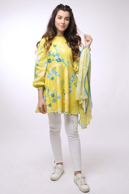 *On Sale* Al Karam MAK-A-003-19-2-Yellow RESTOCKED Ready to Ship - Original Pakistani Suits