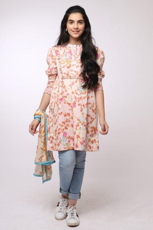 *On Sale* Al Karam MAK-A-004-19-2-Peach HOT Ready to Ship - Original Pakistani Suits