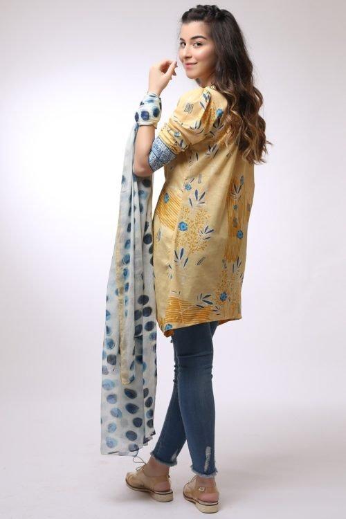 *On Sale* Al Karam MAK-B-001-19-2-Mustard Ready to Ship - Original Pakistani Suits
