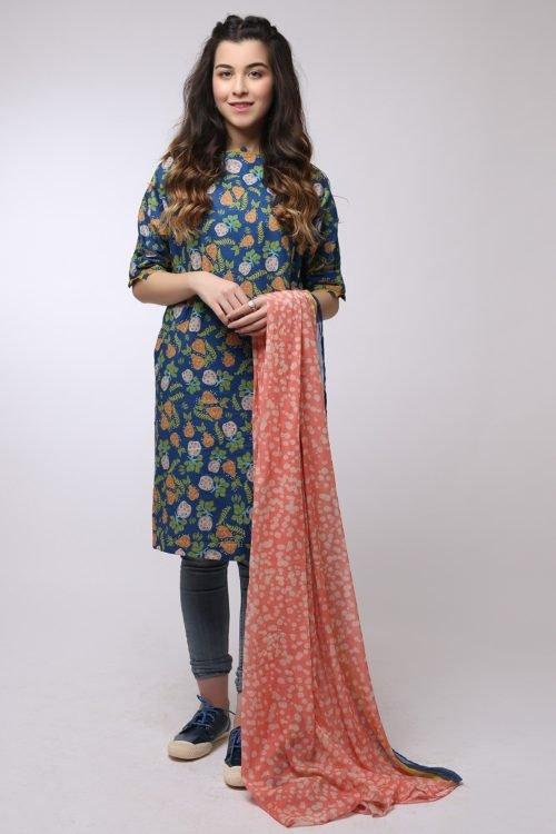 *On Sale* Al Karam MAK-B-002-19-2-Blue Ready to Ship - Original Pakistani Suits