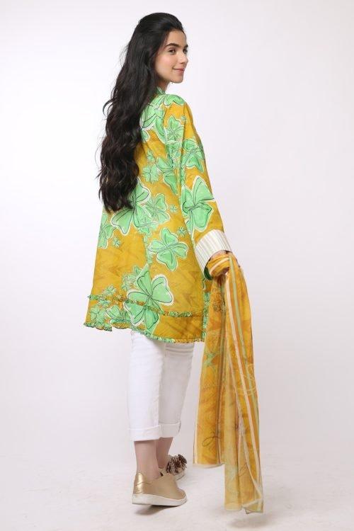 *Hot on Sale* Al Karam MAK-G-003-19-2-Mustard HOT Ready to Ship - Original Pakistani Suits